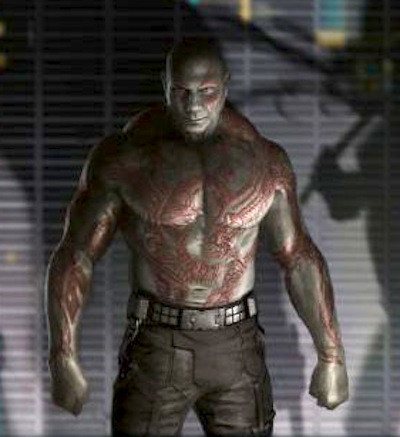 first image of dave bautista as drax the destroyer