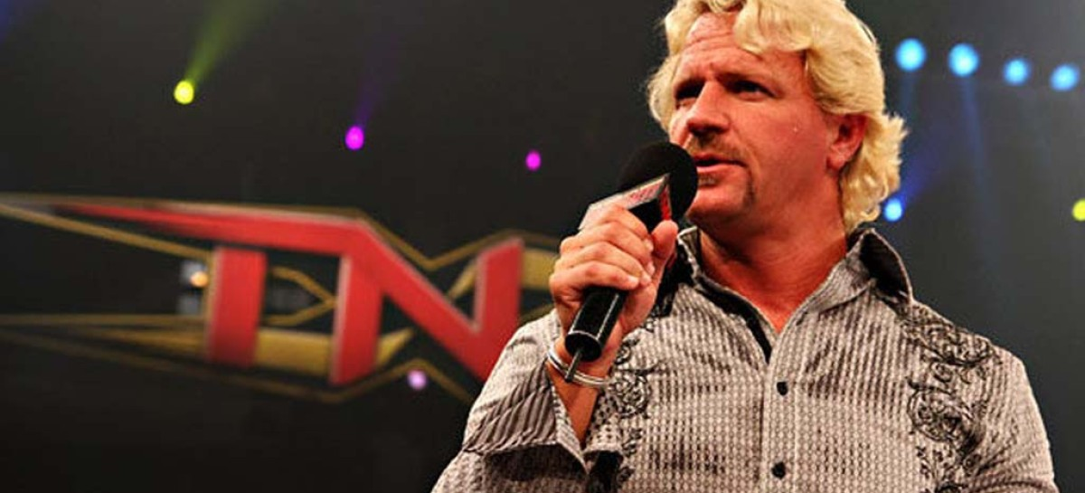 Jeff Jarrett appears at NHL game, smashes guitar over mascot