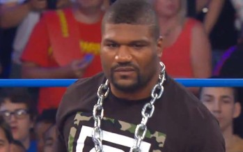 Kurt Angle interrupts Rampage Jackson's TNA debut