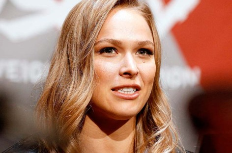 Ronda Rousey and the Four Horsewomen attend SummerSlam