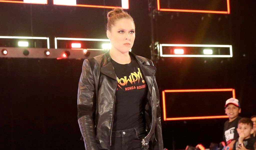 Ronda Rousey goes through her first WWE table on Raw