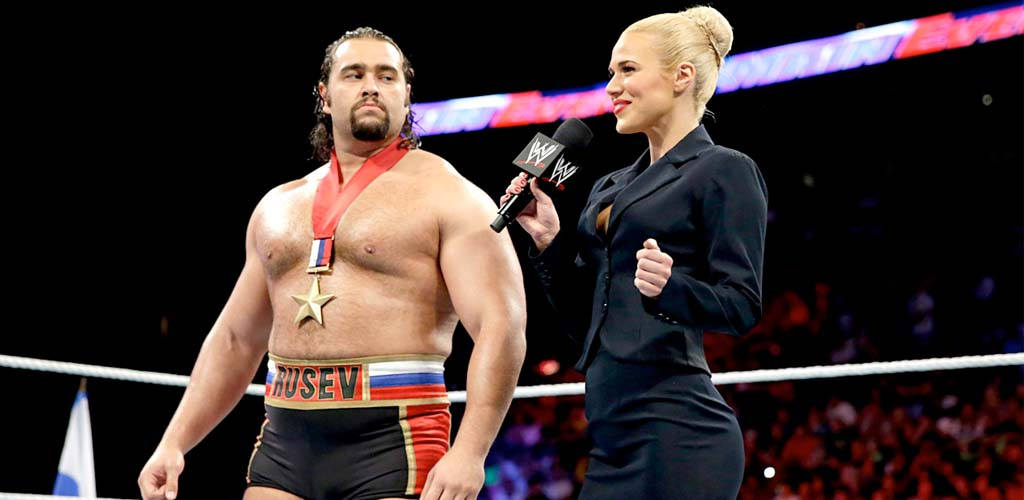 Out-of-character Rusev and Lana entertain on ESPN's SportsCenter