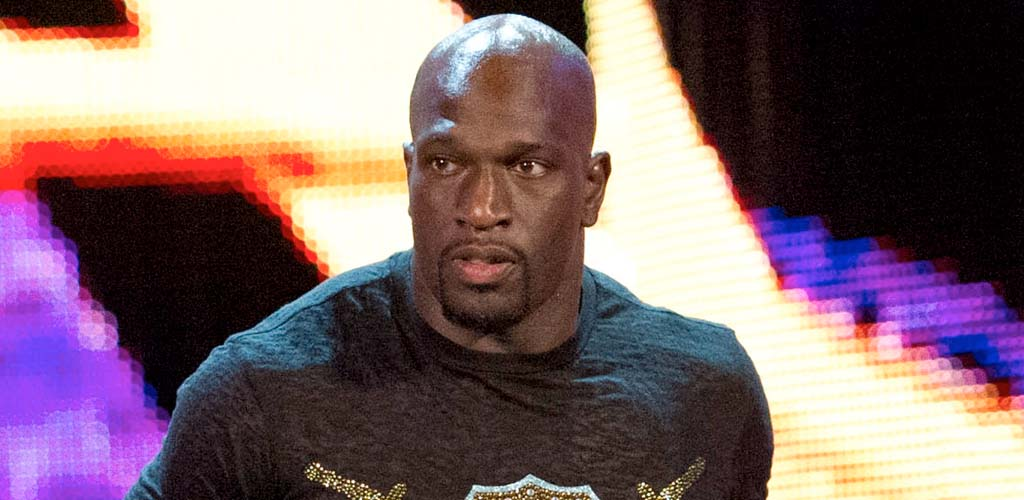 Titus O'Neil pulls a Shockmaster entrance at the Greatest Royal Rumble