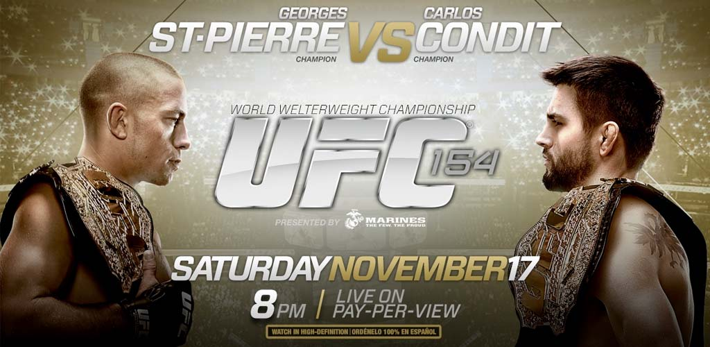 UFC 154: St-Pierre vs Condit weigh-ins video