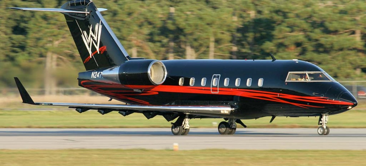 WWE corporate jet lands in Montreal