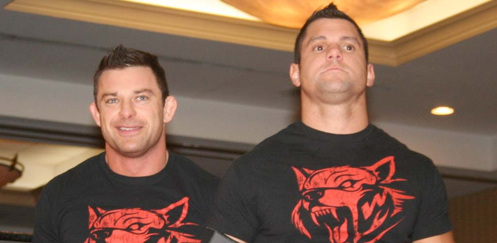 Davey Richards of The Wolves suffers injury at TNA tapings in England