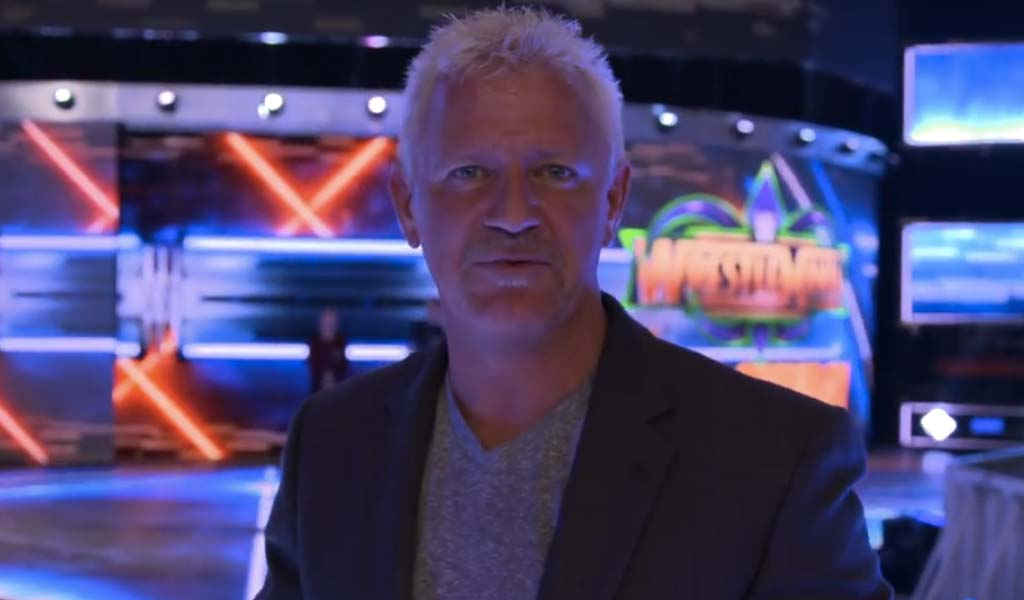 Jeff Jarrett on Backstage tonight to discuss Hogan/Russo incident at Bash At The Beach 2000