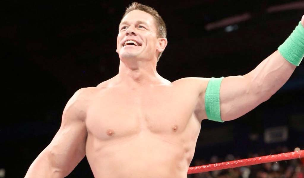 John Cena responds to break-up questions at CinemaCon in Las Vegas