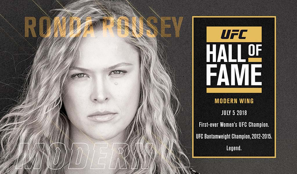 Ronda Rousey enters the UFC Hall of Fame tonight, live on UFC Fight Pass