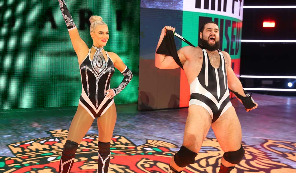 Rusev and Lana do hilarious rap battle against Mark Cuban on TNT's Drop The Mic