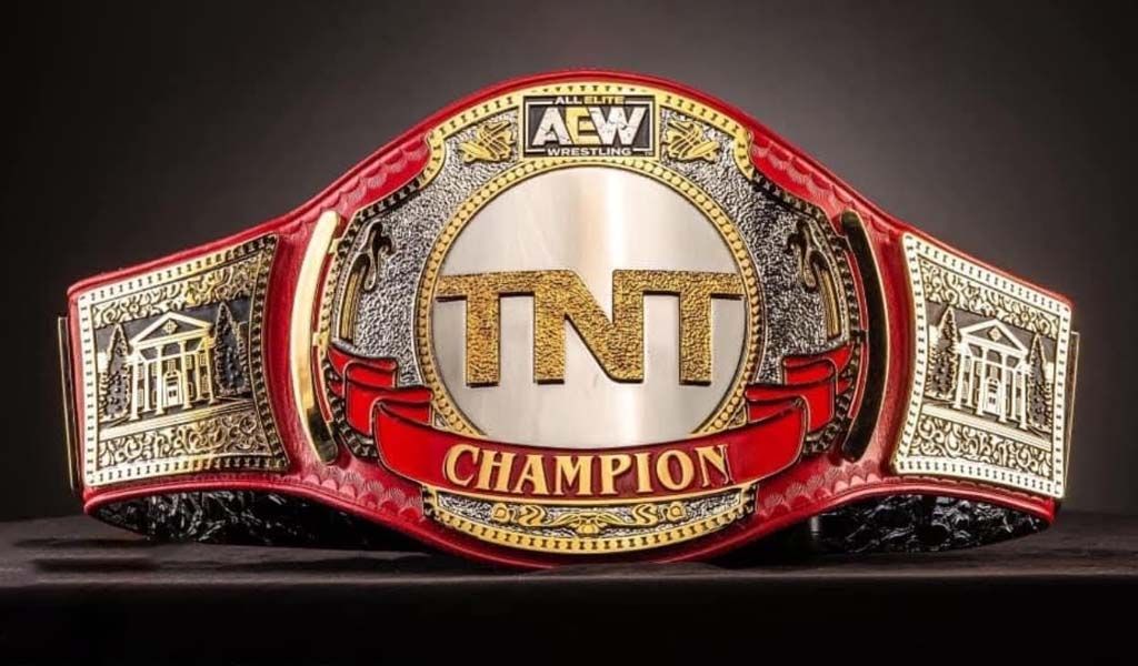 Cody presented with the new, finalized TNT championship belt