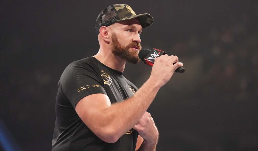 Smackdown taped from Manchester, England today with Tyson Fury appearance
