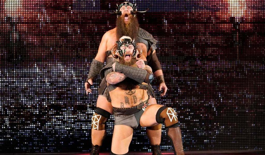 NXT Tag Team titles vacated by The Viking Raiders